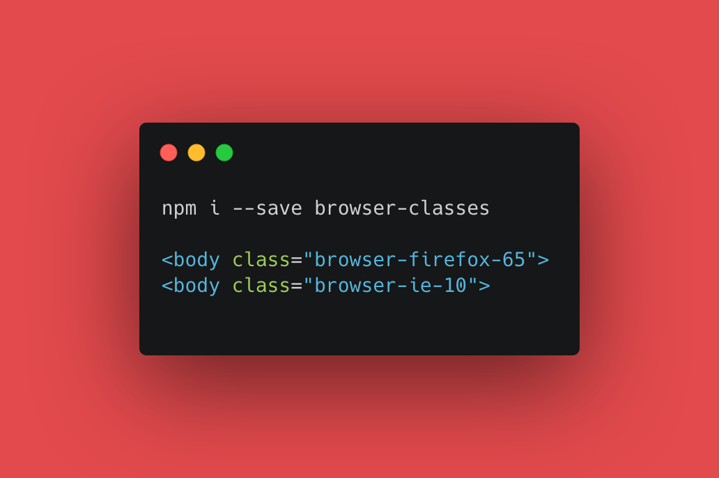 npm browser-classes